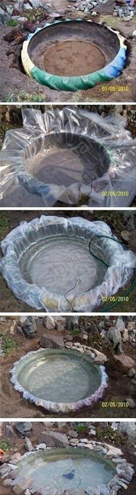 Simple Garden Pond Ideas Diy Tire Pond Dump A Day