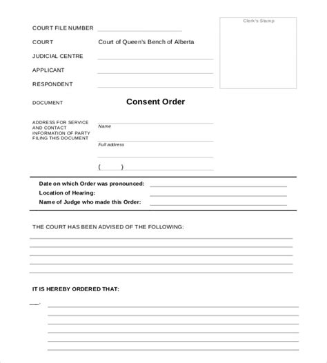 41 Blank Order Form Templates Pdf Doc Excel Free Premium Templates Court Papers Template