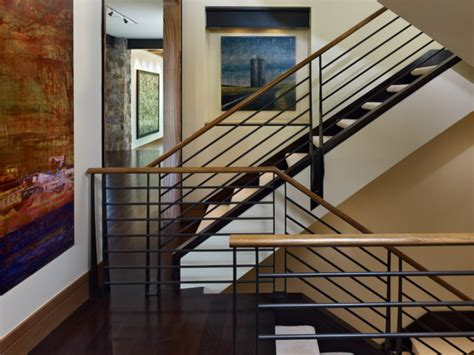 home interior railings cherry hills western eclectic rustic staircase