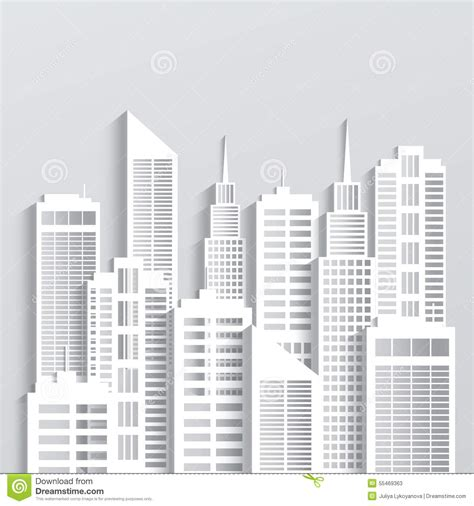 thesis abstract on sustainable architecture modern city skyline stock vector image 55469363