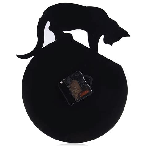 Cat Jaket Cat Fish Cat And Fish Jacket Hoodie acrylic animal diy quartz clock black cat fish pattern