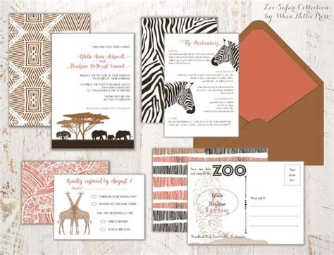 Zoo Themed Wedding Invitations by The World S Catalog Of Ideas