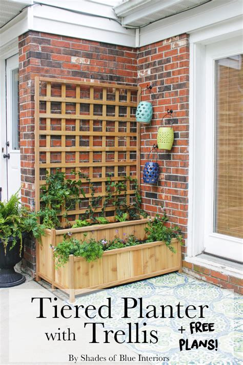 planters with trellis how to build a cedar tiered planter with trellis