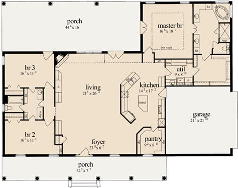 best floorplans country house plan 3 bedrooms 2 bath 2405 sq ft plan 18 425