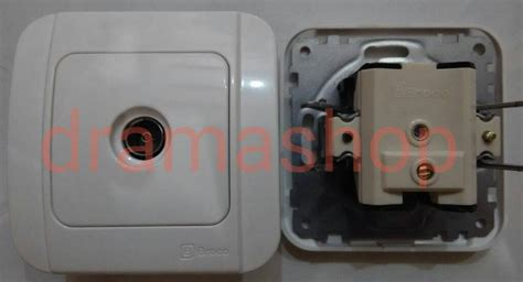 Stop Kontak Broco Galleo jual stop kontak tv ib broco galleo white outlet socket tv dramashop