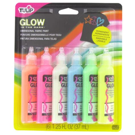 glow in the fabric paint tulip glow in the tulip fabric paint kit hobby lobby 134189