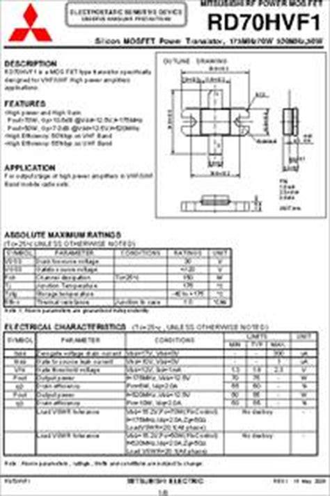 transistor rd15hvf1 datasheet rd70hvf1 datasheet 28 images 2sc681 datasheet pdf mospec semiconductor rd70hvf1 pdf free
