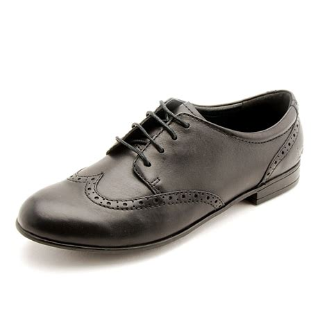 prom black leather lace up shoe