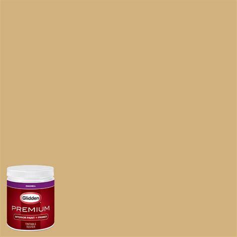 glidden premium 8 oz hdgy38 honey eggshell interior paint with primer tester hdgy38p 08en