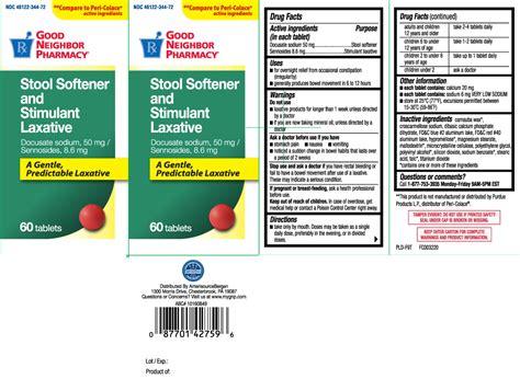 dailymed stool softener stimulant laxative docusate