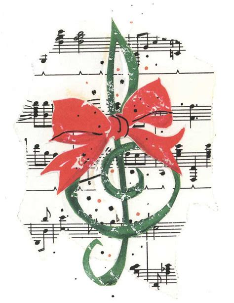 buy clef with bow christmas card music stationery