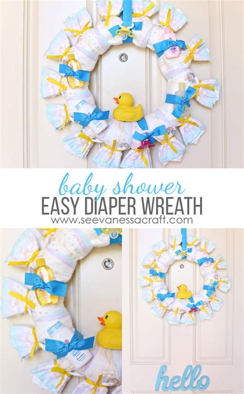 How To A Baby Shower by Craft Baby Shower Wreath See Craft