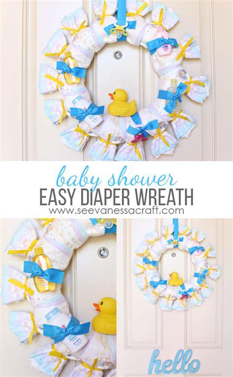 Baby Shower Wreath Tutorial craft baby shower wreath see craft