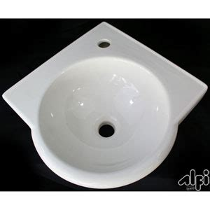 white wall mounted corner sink barclay products wall