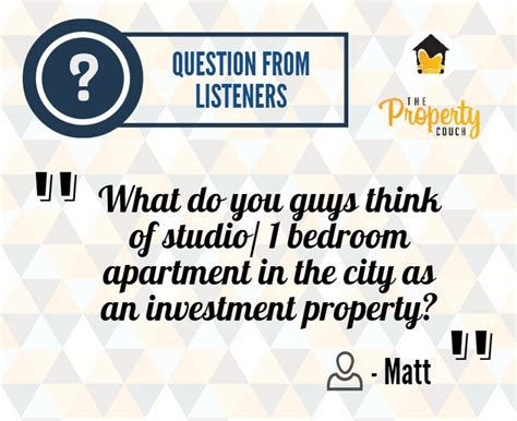 are one bedroom apartments a good investment episode 007 studio or one bedroom apartment as an investment property the property