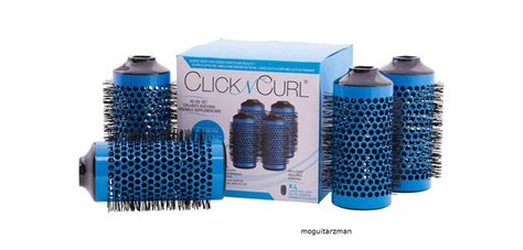 Drying Curly Hair With Brush click n curl large add on set professional hair 4 brush heads set bath