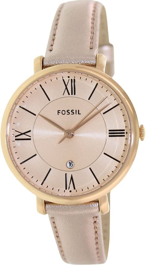 Fossil M1157 Rosegold Black Leather fossil fossil womens jacqueline es3438 gold leather quartz black