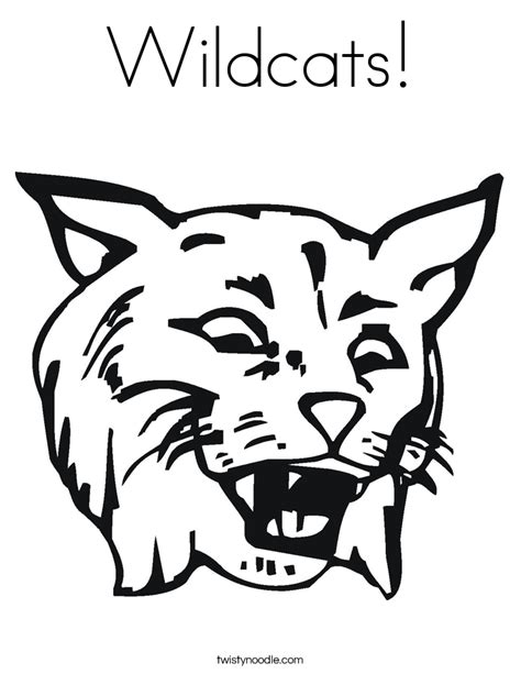 wildcats coloring page twisty noodle