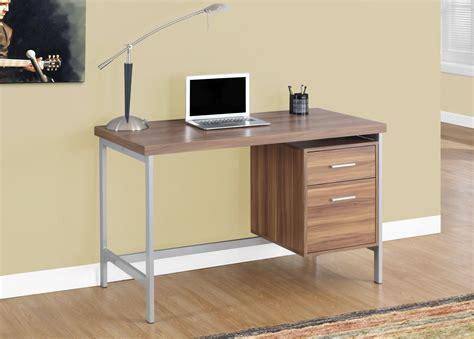 Modern Desks Canada Spec Designs By Monarch Specialties Biri Computer Desk Walnut Silver I 7151 Modern