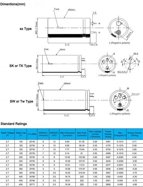 datasheet of capacitor 10 microfarad 10 microfarad capacitor datasheet 28 images 6x maxwell 2600f 2 5v supercap 2600 farad ultra