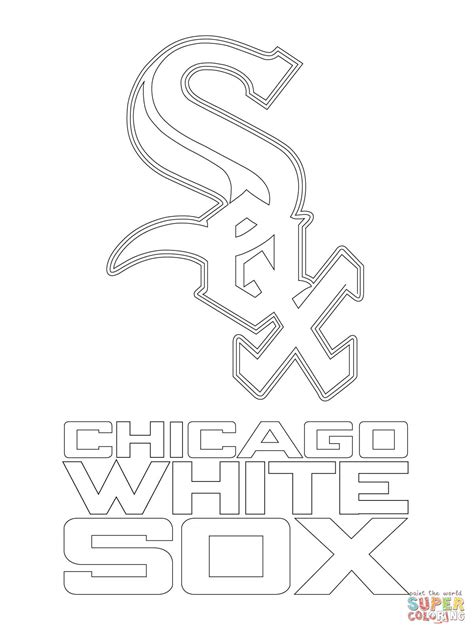 White Pages Chicago Lookup Chicago White Sox Logo Coloring Page Free Printable Coloring Pages