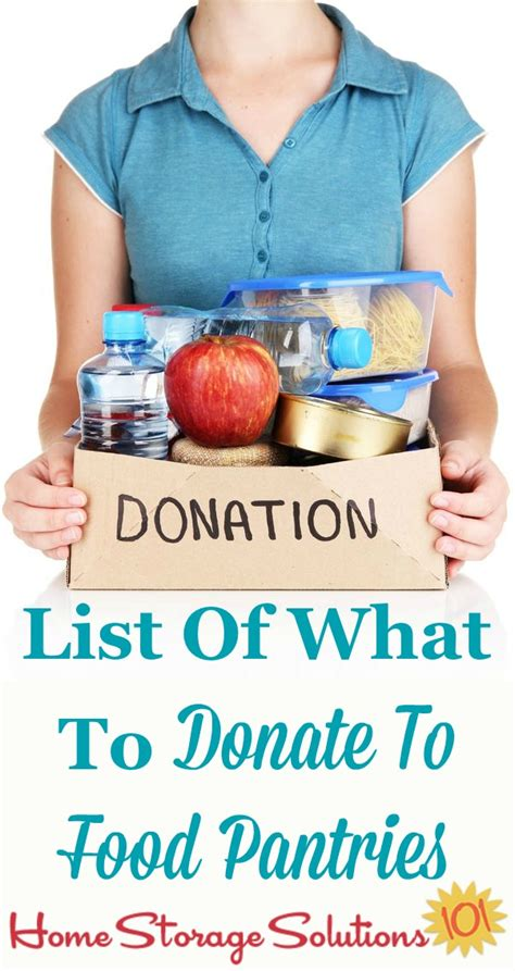 Food Pantry Donation List by List Of Items Needed For Food Pantry Donations