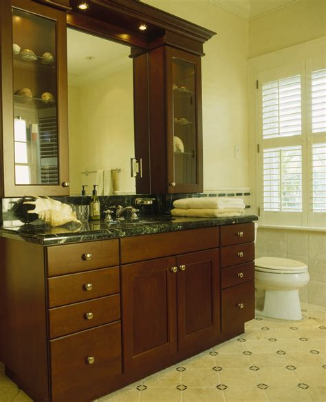 Wooden Vanity Units For Bathrooms Large Wooden Vanity Unit Photos Design Ideas Remodel And Decor Lonny