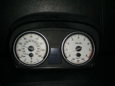 premium white  cluster gauge face    bmw