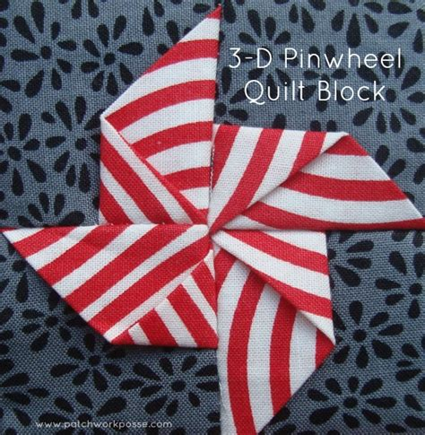 Dimensional Quilt Patterns by 3 Dimensional Pinwheel Quilt Block