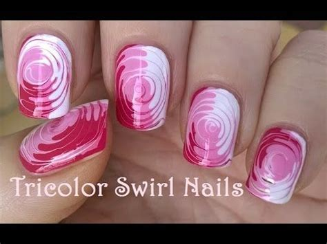 nail art tutorial with toothpick toothpick nail art 2 easy tricolor swirl nails tutorial