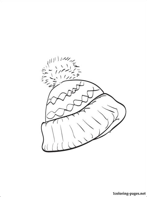 Winter Hat Coloring Page Coloring Pages Winter Hat Coloring Page