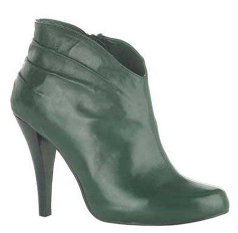moda in pelle kenya green leather ankle boots gt shoeperwoman