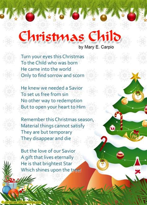 christmas poems for kids christmas celebration