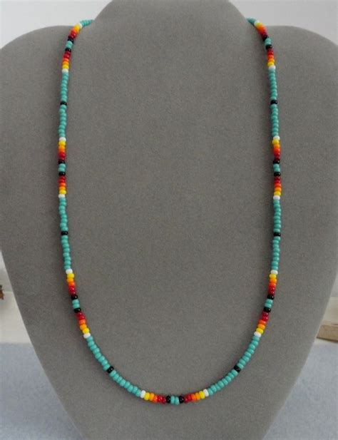indian bead necklace turquoise beaded mens womens necklace american ebay