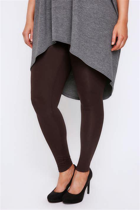 Legging Brown 28 31 brown viscose elastane plus sizes 16 18 20 22 24 26 28 30 32
