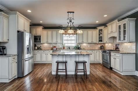 cream colored cabinets kitchens pinterest