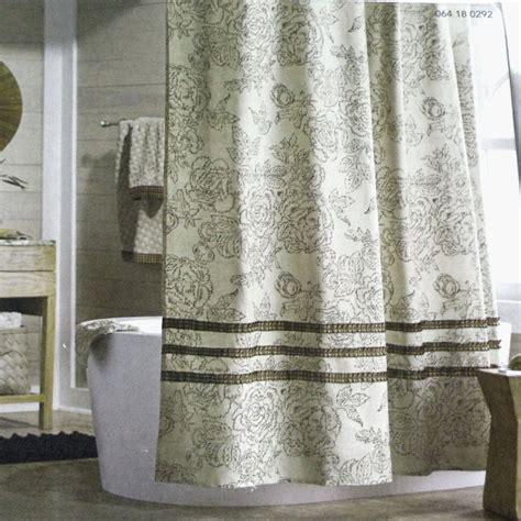 ivory ruffle shower curtain threshold ivory ruffle gray yellow fabric shower curtain