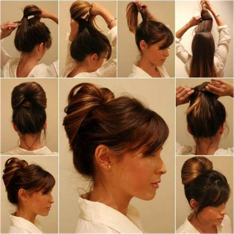 diy mens haircut prom updo tutorial diy elegant inside out ponytail bun