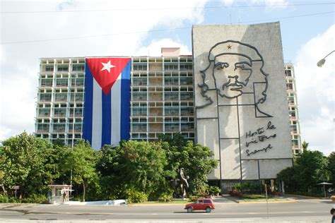 file ministry of the interior of cuba with flag jpg