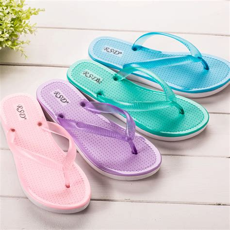 ladies bathroom slippers 2015 women s beach flip flops flat slip resistant plastic