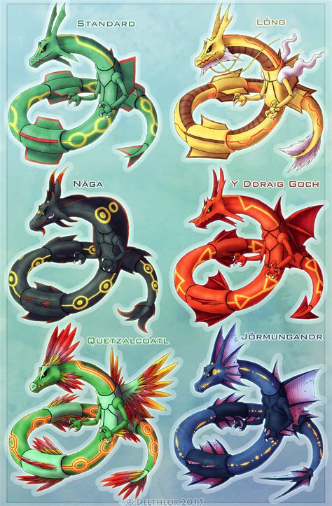 Or Variations Rayquaza Variations By Deltheor On Deviantart