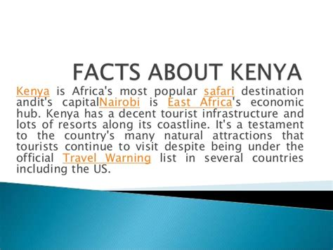 facts about facts about kenya