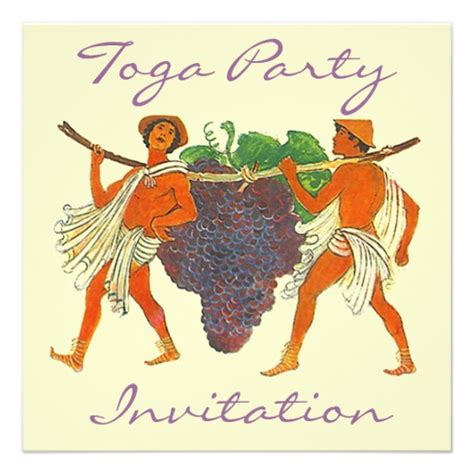 toga invitation template cluster of grapes togas toga invitation 5 25