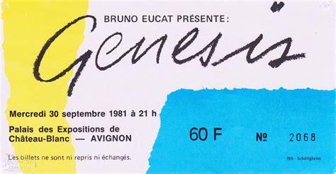 genesis tickets genesis ticket chateau blanc avignon 30th