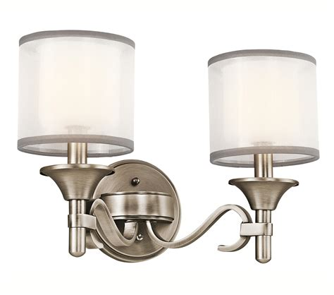 kichler bathroom vanity lighting kichler 45282ap lacey vanity light