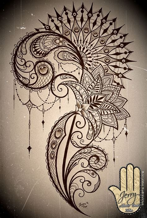 lotus mandala tattoo ribs mandala and lace thigh tattoo concept design with lotus