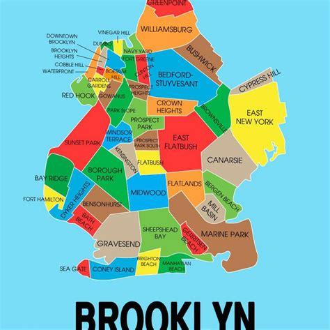 zip code map brooklyn map of brooklyn ny brooklyn new york on map new york usa