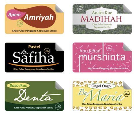 desain label produk makanan workshop desain kemasan makanan khas pulau panggang