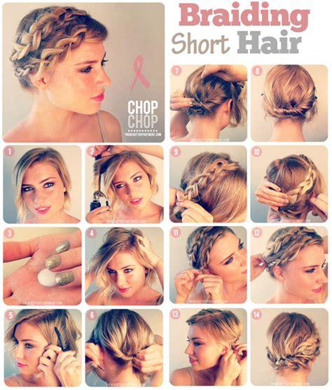 step to step hairstyles for medium hairs 10 fabulous hair tutorials for short hair
