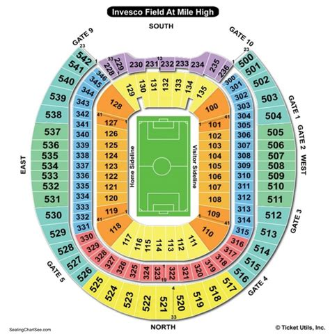 sports authority seating capacity sports authority field at mile high seating chart